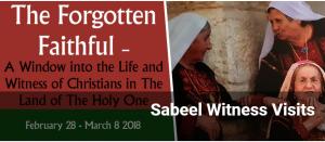 Sabeel Witness Visit @ Betlehem, Jerusalem, Nasaret