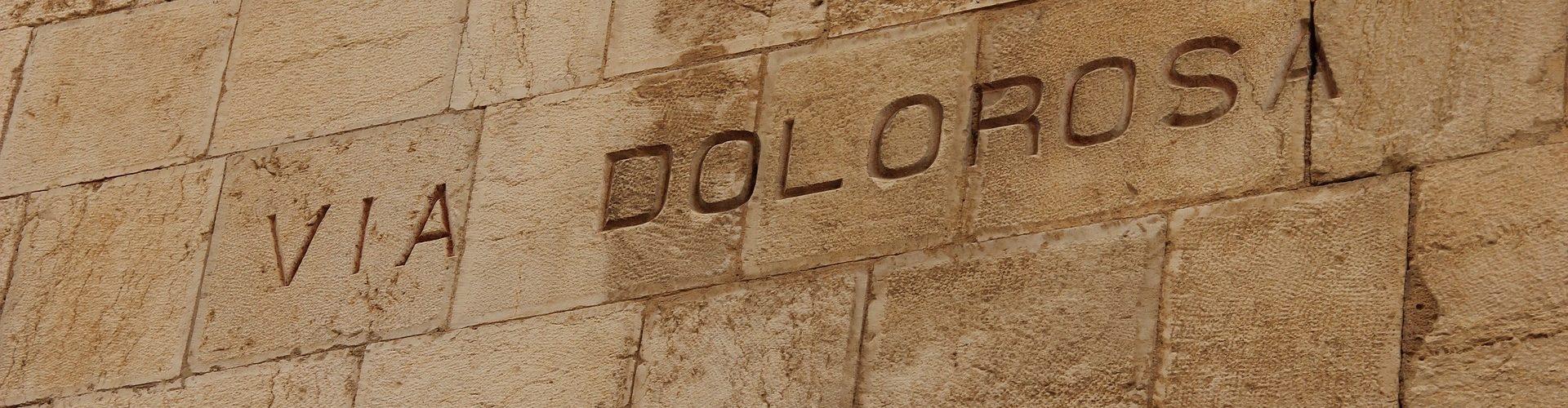 Via Dolorosa skrivet på en mur